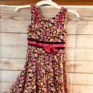 EGUC Floral Pink Shortsleeve Dress
